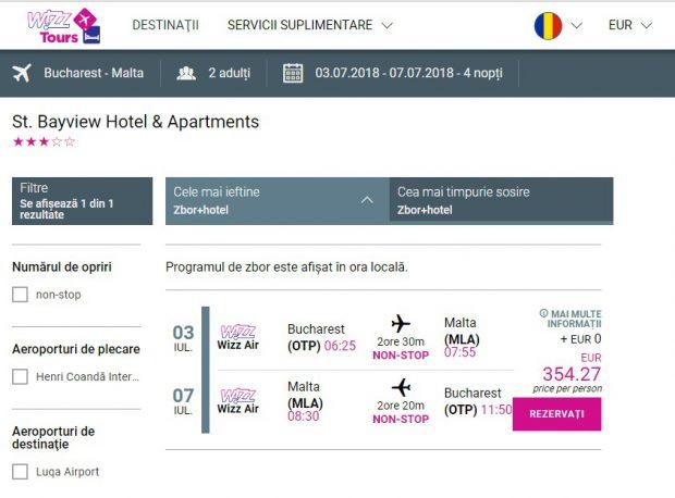 Oferta Wizz Tours pentru un sejur de 5 zile în Malta, în perioada 3 - 7 iulie