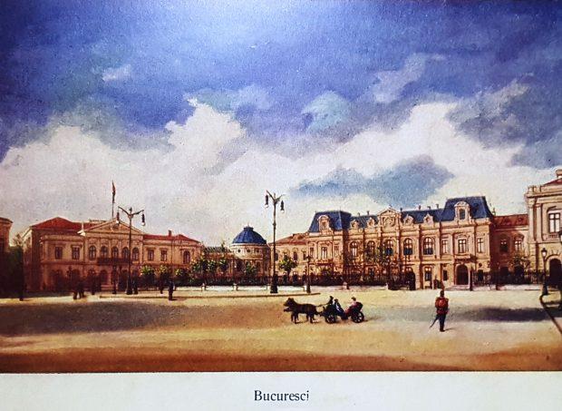 Pe locul actualului Palat Regal s-a ridicat, începând cu anul 1812, Casa Golescu. Casa Golescu a fost ridicată în stil neoclasic, cu un etaj și avea 25 de odăi, un număr impresionant pentru o locuință în Bucureștii acelei epoci. În 1837, casa somptuoasă a stolnicului Dinucu Golescu devine Curtea Domnească a lui Alexandru Ghica Vodă