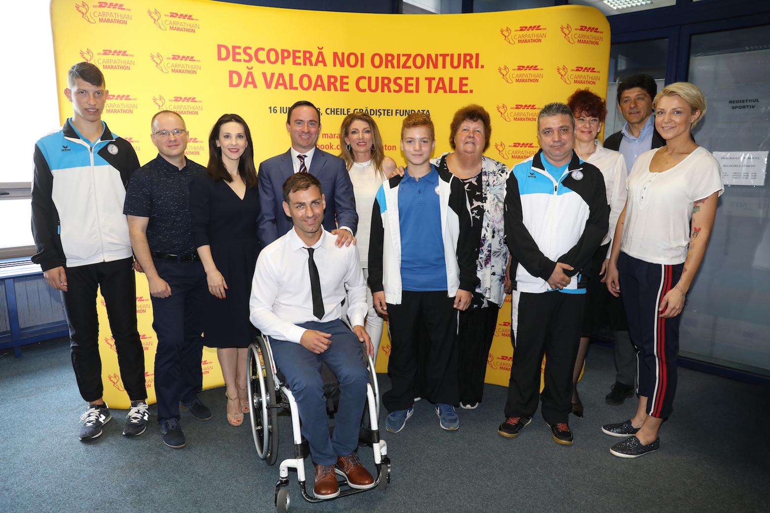 Imagini pentru poze dhl carpathian marathon 2019 de la conferinta de presa