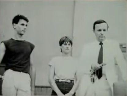 Cristian Țopescu alături de Nadia Comăneci și actorul Bogdan Stanoevici