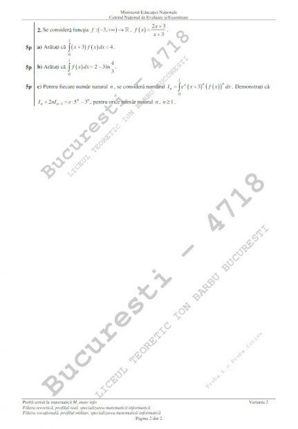 Subiecte matematică BAC 2018. Au apărut subiectele la matematică la Bacalaureat 2018 pe care le-au rezolvat absolvenții de clasa a XII-a, profilul mate-info