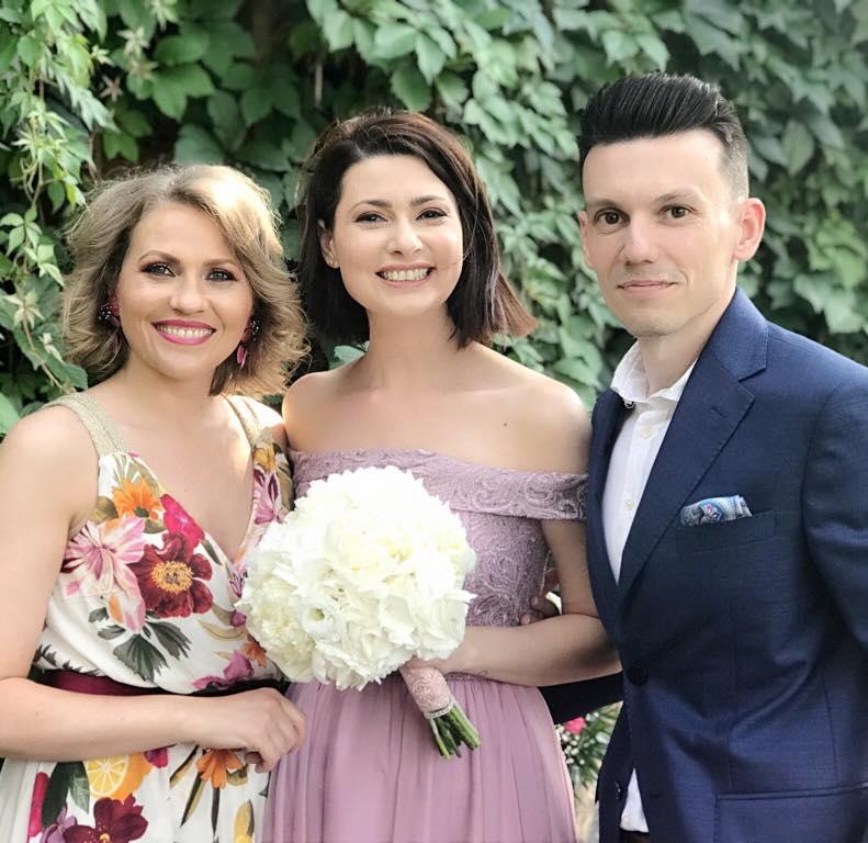 Andreea Berecleanu, nașă. Părinte spiritual pentru o colegă de la TV
