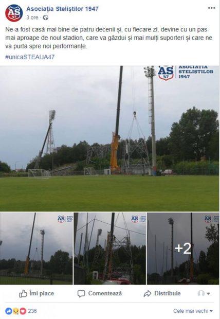"""A început demolarea stadionului """"Steaua""""! """"Templul"""" a fost inaugurat în urmă cu 44 de ani și a găzduit marile succese ale """"roș-albaștrilor"""", dar și ale naționalei"""