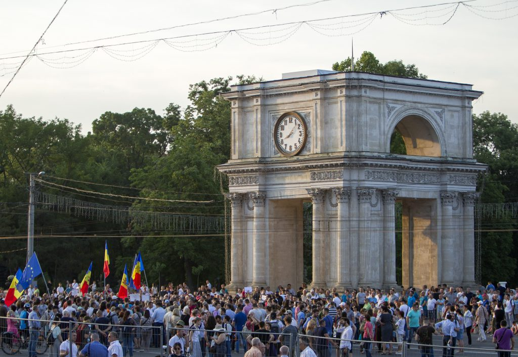 Protest de amploare în Chișinău față de invalidarea alegerilor pentru primărie