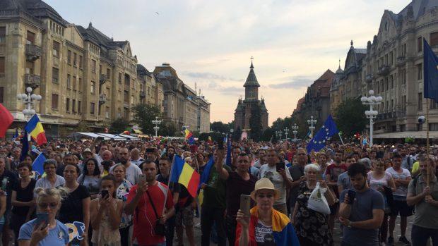 1.000 de oameni au protestat, pe 20 iunie, în Piața Victoriei din Timișoara