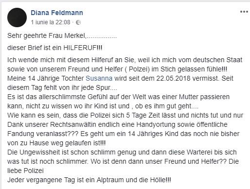 Scrisoare către Angela Merkel