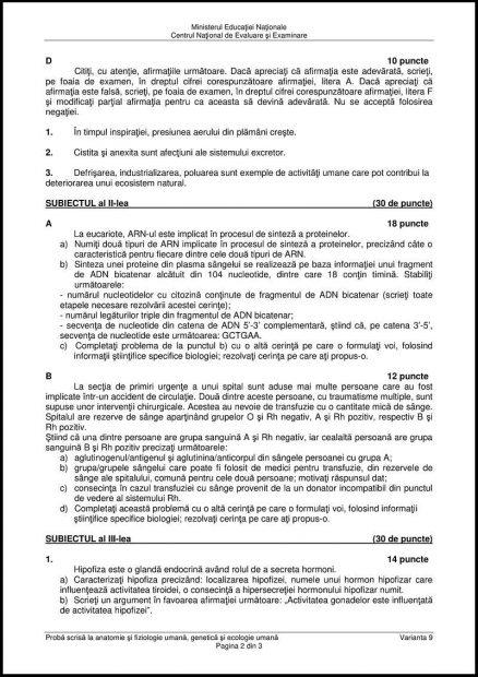 Bac 2018 la Anatomie. Subiectele date la Anatomie la Bacalaureat 2018 vor fi afișate și pe Libertatea.ro