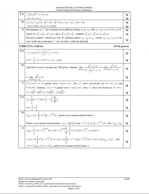 Subiectele date la BAC la matematică.