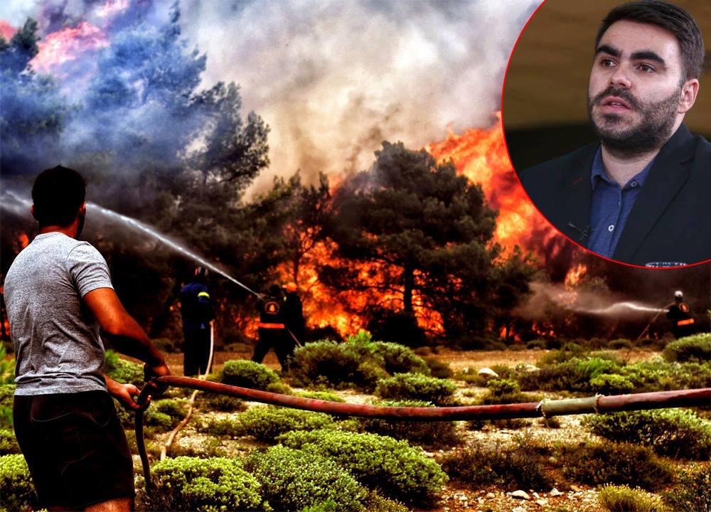 VIDEO/ Dragoș Sasu, reporter special Libertatea, transmite din mijlocul dezastrului din Grecia