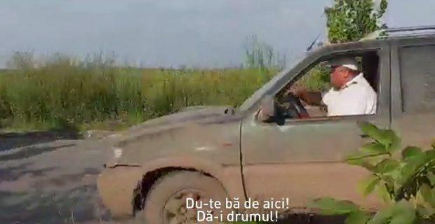 Marin Anton, scandal în Giurgiu. Un angajat al fostului deputat, la un pas de a-i spulbera pe drumari