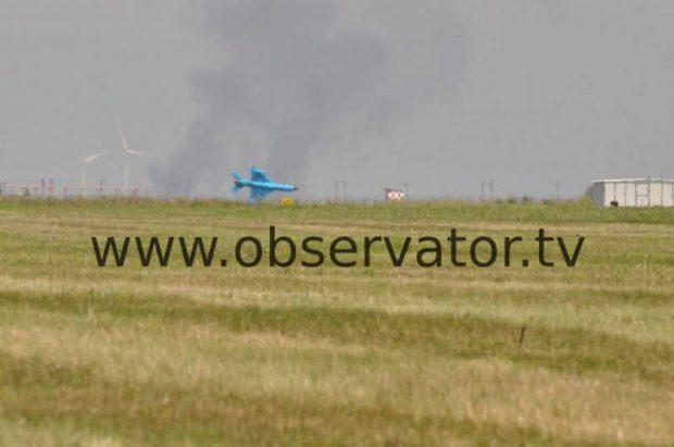 FOTO/ Momentul prăbușirii avionului MiG-21 Lancer, la Fetești. Ultimele secunde din viața pilotului Florin Rotaru