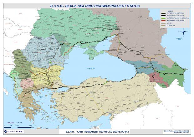 Harta Black Sea Ring Project (foto blacksearing.org)