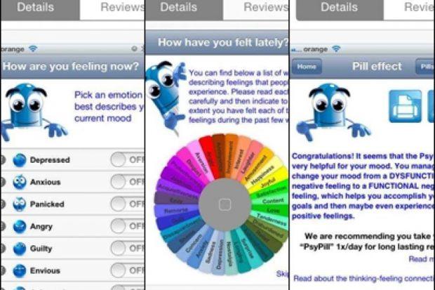 PsyPills, aplicația antistres, creată de psihologii din Cluj. Așa arată meniul aplicației PsyPills