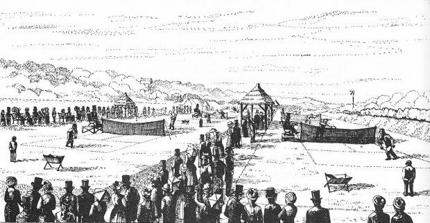 Prima ediție a Campionatului de tenis de la Wimbledon, în 1877