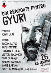"""""""Din dragoste pentru Gyuri"""". La doi ani de la moartea lui, zeci de artiști merg la Agnita"""