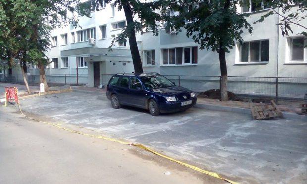 asfalt -fost spatiu verde - bd. Camil Ressu bloc N2