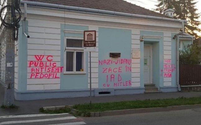 Mesaje antisemite pe Casa Memorială
