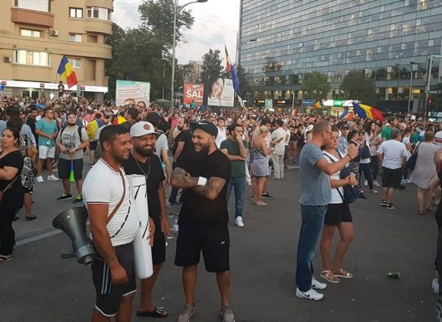 Dani Mocanu la proteste