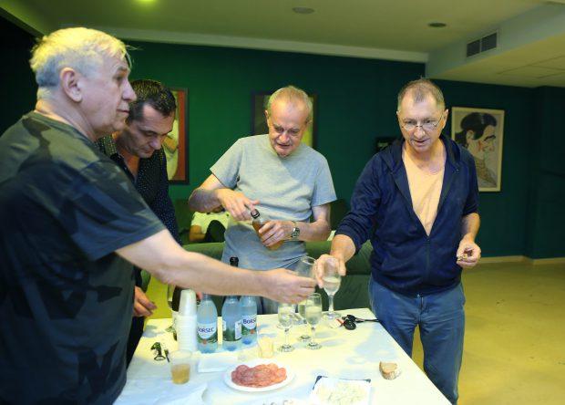 George Mihăiță și Horațiu Mălăele, la un pahar de șampanie