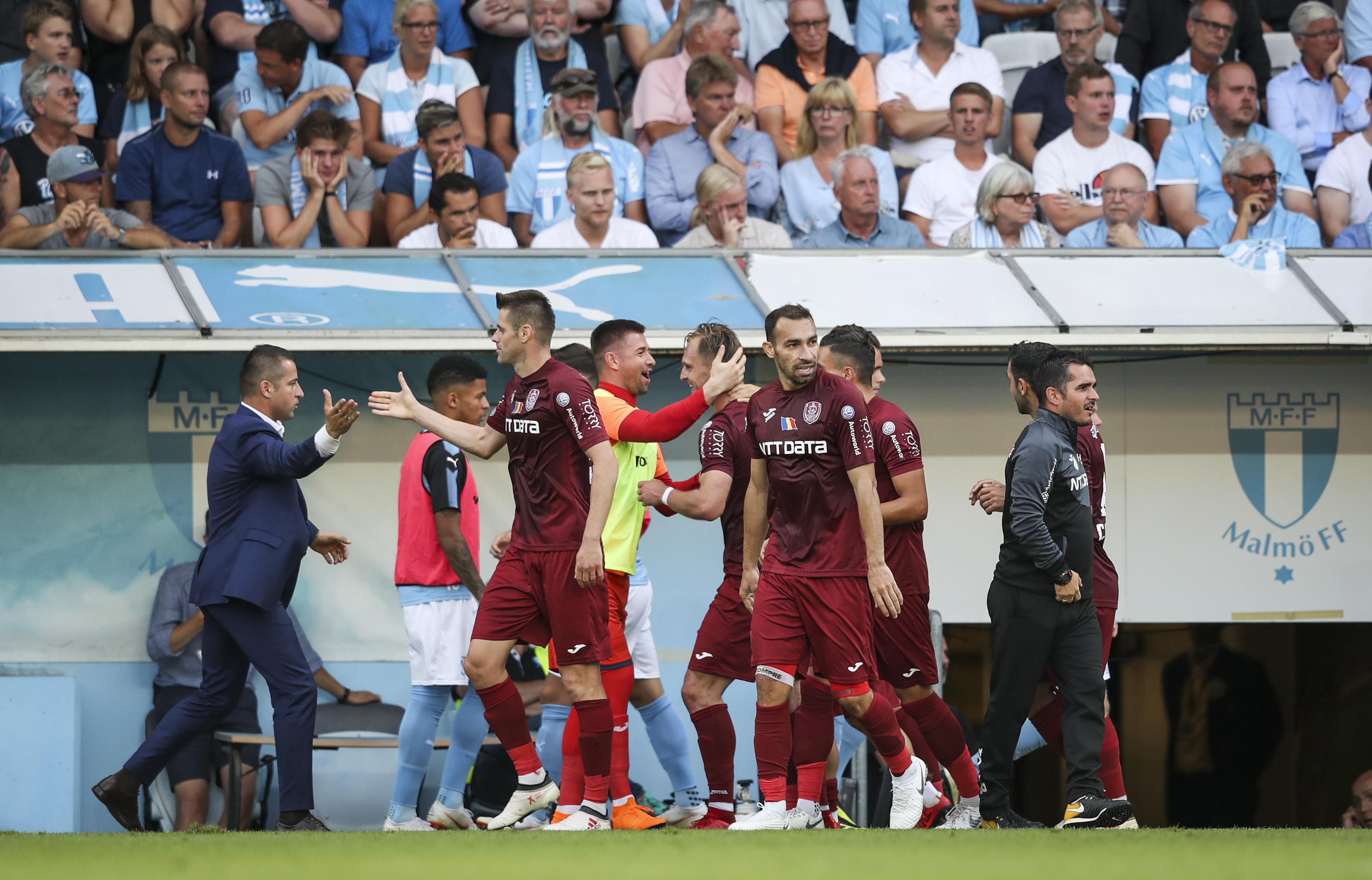 Malmo - CFR Cluj 1-1, în turul II preliminar din Liga Campionilor. Ardelenii, retrogradați în Europa League
