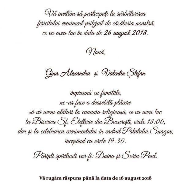 EXCLUSIV/ Daddy, socru mare. Vezi invitaţia la nunta de lux a fiului lui Liviu Dragnea! Ce se mănâncă și unde sunt așteptați nuntașii pentru evenimentul mondeno-politic al anului