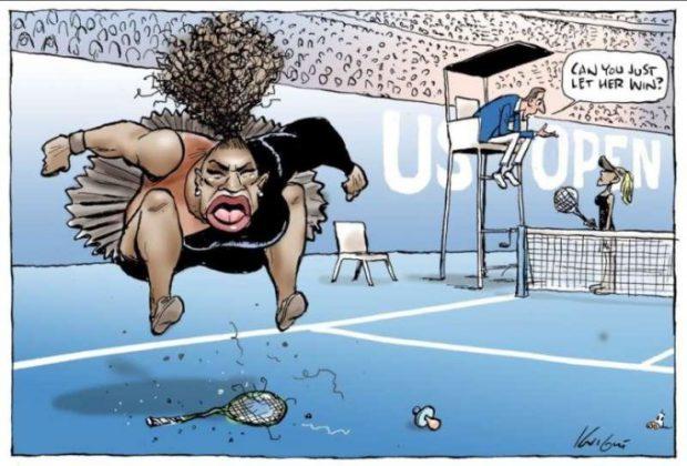FOTO | O caricatură a Serenei Williams a stârnit critici dure în mediul online: Eşti un rasist de primă clasă!