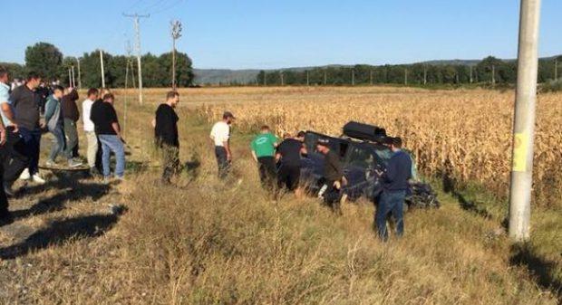 Accident cumplit pe E85, la ieșire din Adjud
