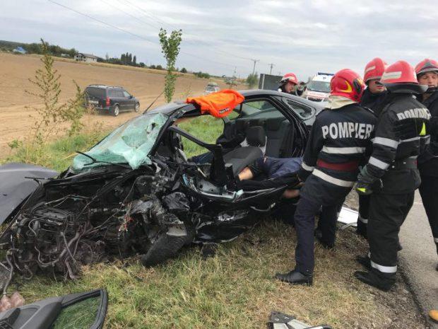 Accident în comuna Pădureni din Vrancea