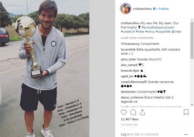 Cristi Chivu, mândru de primul lui trofeu ca antrenor