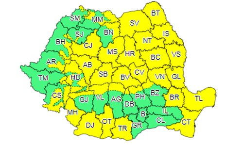 Toamna își intră în drepturi în România! Cod galben emis de meteorologi. Temperaturile scad drastic