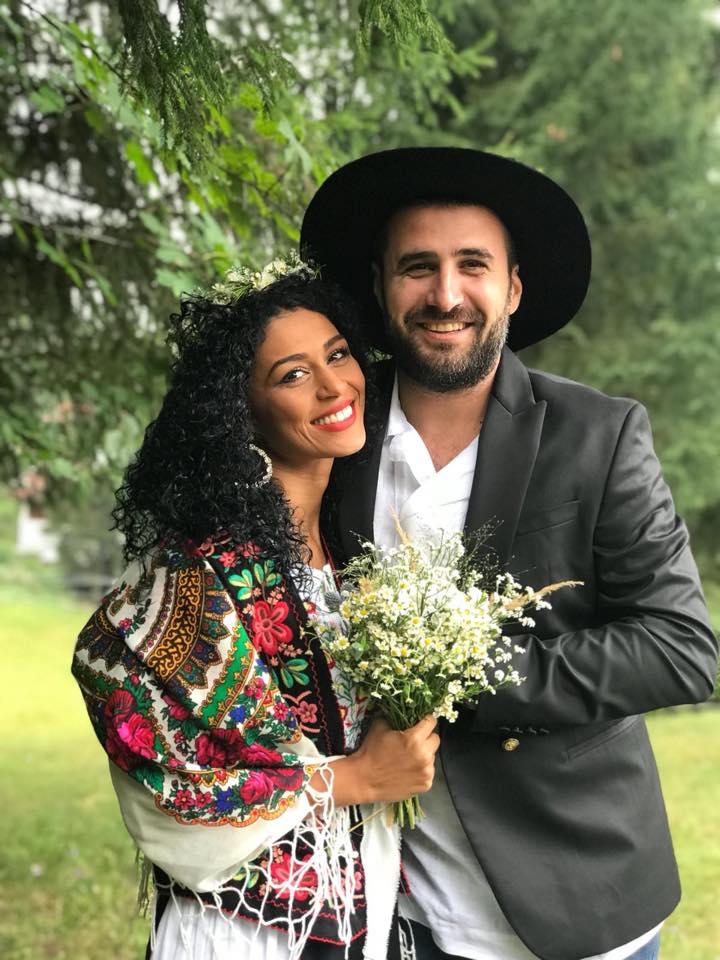 Majda Aboulumosha a prins buchetul la nunta Dianei Dumitrescu