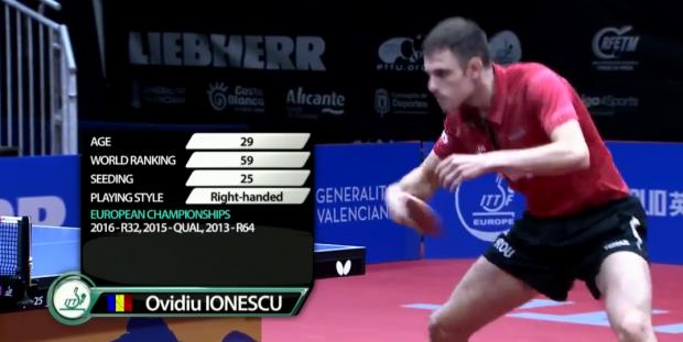 PERFORMANȚĂ DE SENZAȚIE! Ovidiu Ionescu este vicecampion european la tenis de masă. A pierdut finala cu legendarul Timo Boll / VIDEO