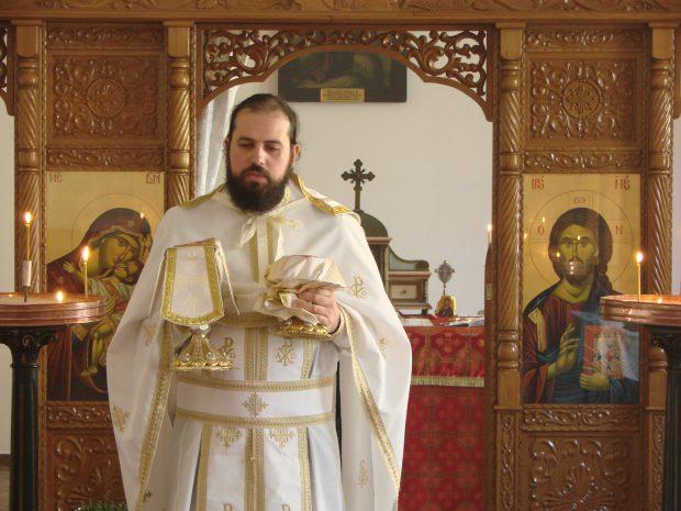 Părintele David Pop, de la Mănăstirea Sf. Ioan Botezătorul din Budapesta