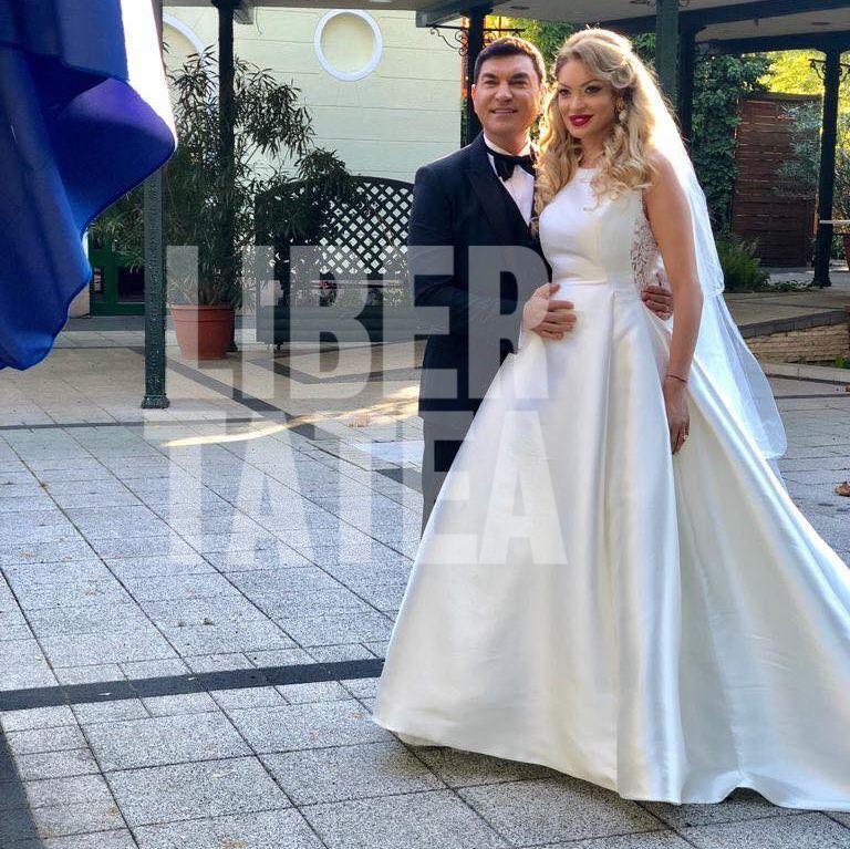 CORESPONDENȚĂ DE LA BUDAPESTA/ Prima imagine de la nunta Valentinei Pelinel cu Cristi Borcea. Cum s-a îmbrăcat ginerele și ce rochie uluitoare a purtat mireasa