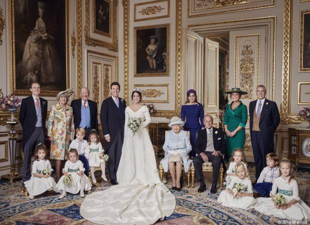 FOTO | Primele fotografii oficiale cu Prințesa Eugenie și Jack Brooksbank, alături de Familia Regală a Marii Britanii