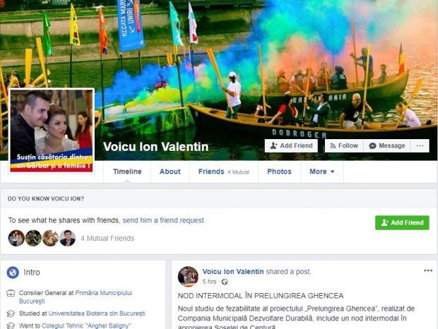 Consilierul general Ion Valentin Voicu are cont pe Tinder și susține familia tradițională