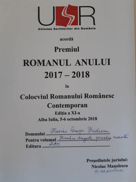 Volumul inspirat din tragedia de la Colectiv este romanul anului. Flaviu Predescu, premiat de Uniunea Scriitorilor