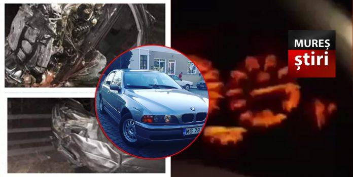Doi tineri au condus un BMW cu 220 de kilometri la oră , cu live pe facebook și manele. Au scăpat cu viață ca prin minune