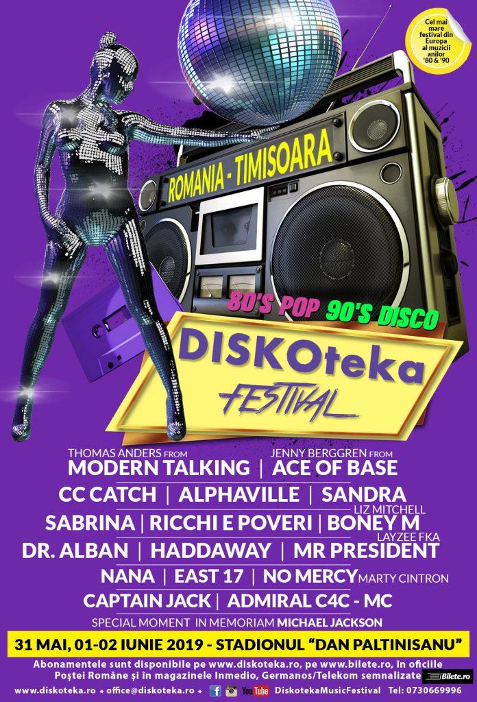 În 2019, Timișoara  va fi gazda celei mai mari discoteci din Europa- Diskoteka Festival! 5 scene, 3 zile de concerte pe stadion, peste 50 de artiști
