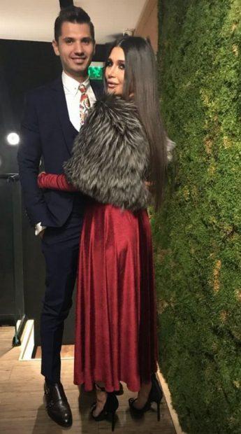 Elena Băsescu și iubitul său, Cătălin Gheorghe, la botezul fetiței Adelinei Pestrițu
