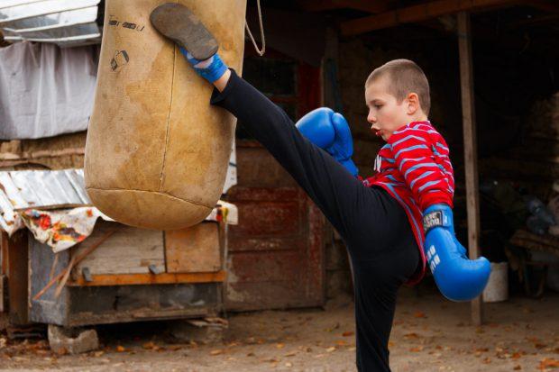 Florinel iubește kickboxingul FOTO: Europa FM