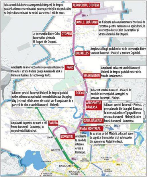 Metroul spre Otopeni va primi finanțare europeană doar pe jumătate