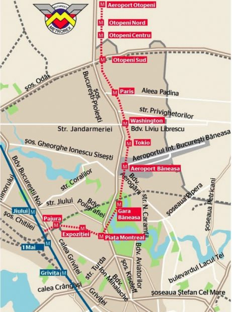 Proiectul Magistralei 6 de metrou, 1 Mai-Aeroport Otopeni