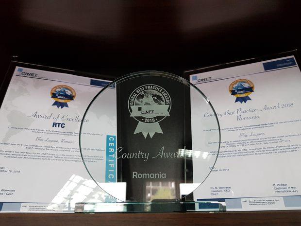 Compania Blue Lagoon Clean a fost desemnată cea mai bună spălătorie din România şi a obţinut premiul de excelenţă la nivel European în ceea ce priveşte serviciile oferite clienţilor