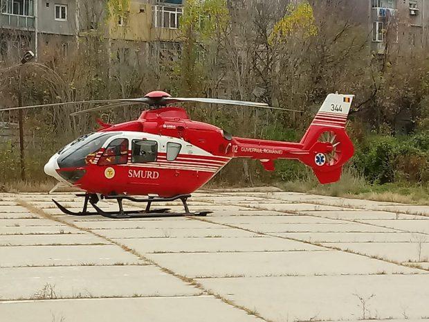 VIDEO/ Florin Busuioc a fost adus la un spital din București cu un elicopter SMURD. Primele imagini cu actorul