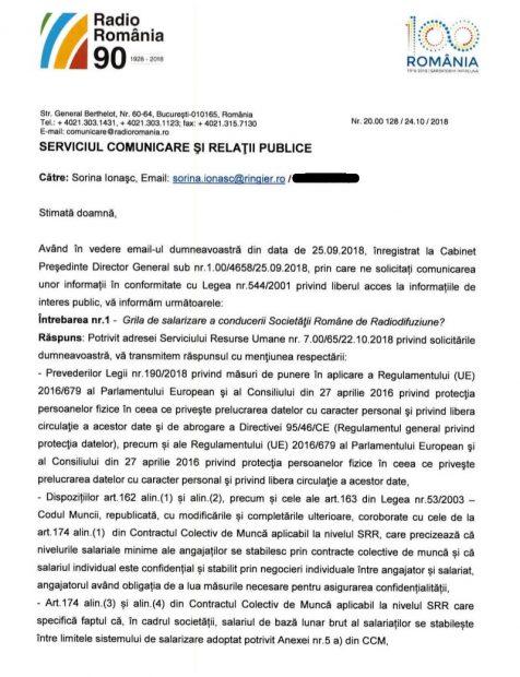 """Salariile de lux din radioul public, ținute la secret. Libertatea a încercat să afle dacă șeful SRR câștigă 7.000 de euro pe lună. """"Măcar să ne fi zis felicitări, să scrieți și lucruri bune"""""""