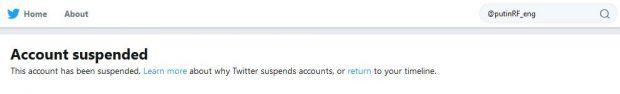 Twitter-cont suspendat-Vladimir Putin