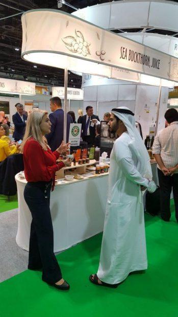 Cătina ecologică din Dâmbovița, promovată în Dubai