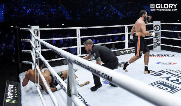 VIDEO / Benny Adegbuyi, făcut KO în finala Glory 62 de la Rotterdam. A ratat potul de 100.000 de euro