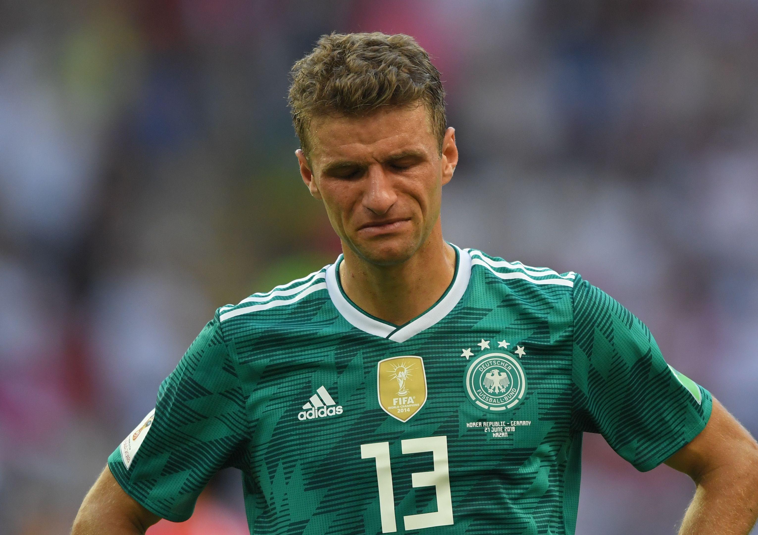 Germanul Thomas Müller nu și-a putut ascunde dezamăgirea pentru eliminarea prematură de la Cupa Mondială